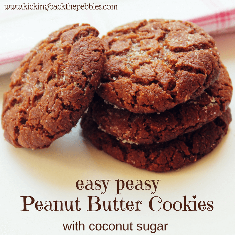 Peanut Butter Cookies with coconut sugar | Kicking Back the Pebbles