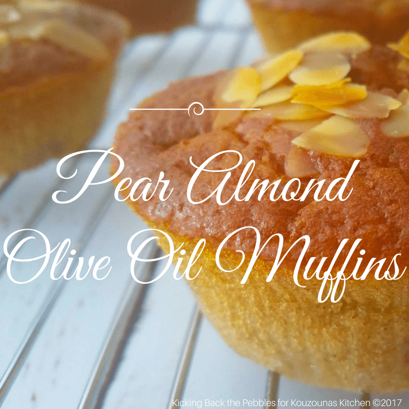 Pear Almond Olive Oil Muffins | Kicking Back the Pebbles