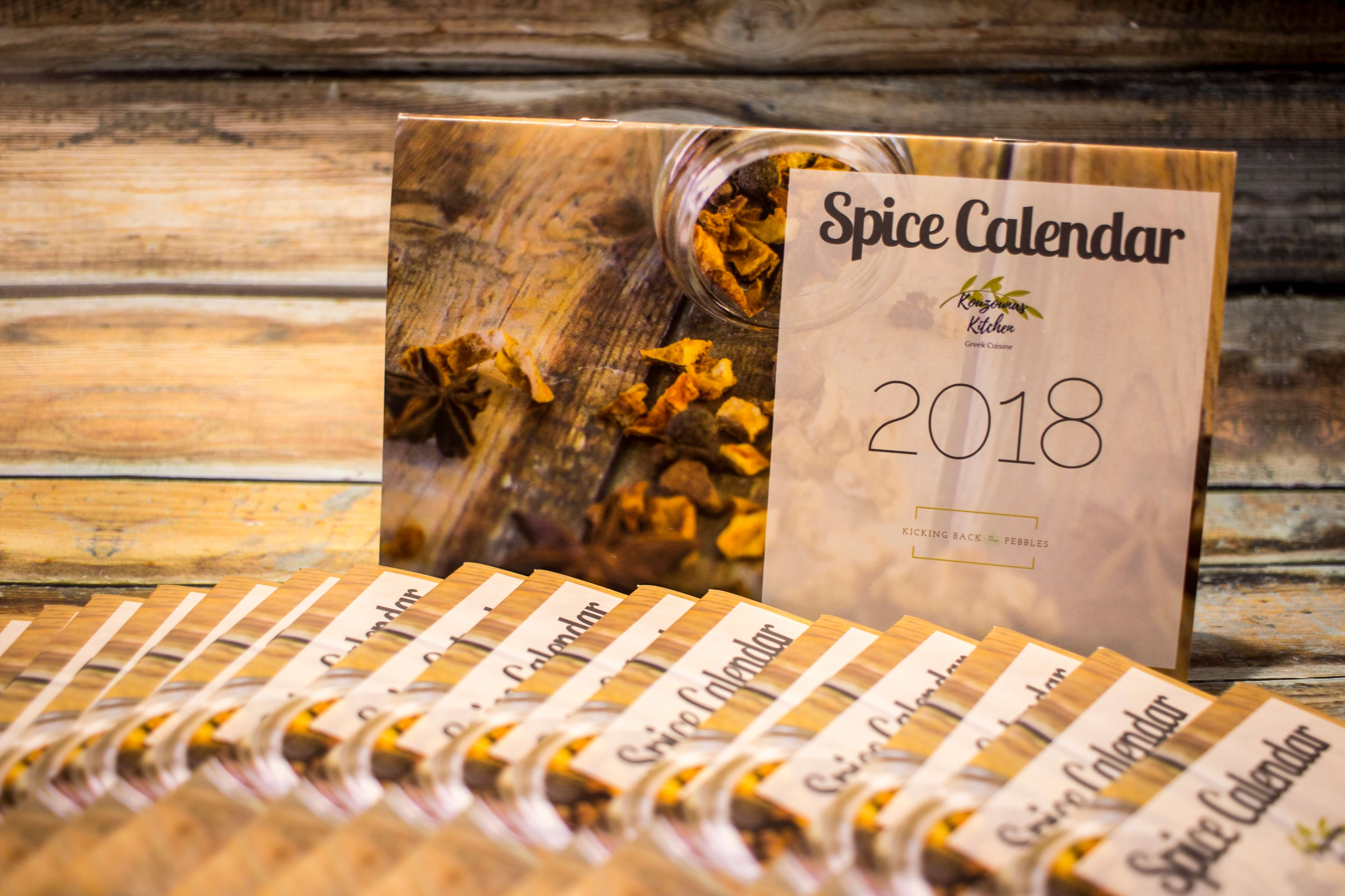 The 2018 Spice Calendar by Kicking Back the Pebbles & Kouzounas Kitchen