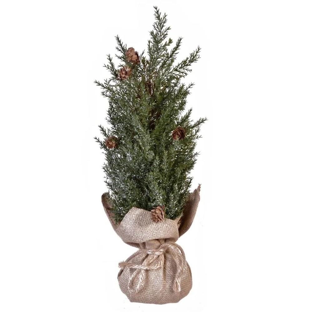 Mini Christmas tree with burlap base | Jumbo