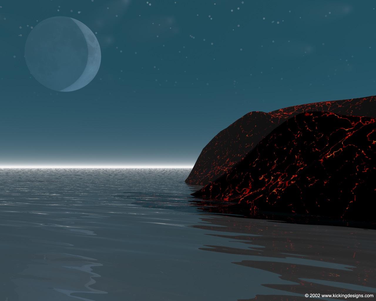 Night Time  Desktop Wallpaper 1280 x 1024  Kicking