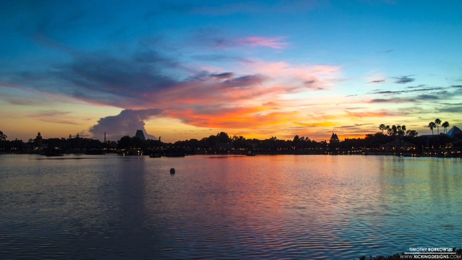 epcot sunset 4