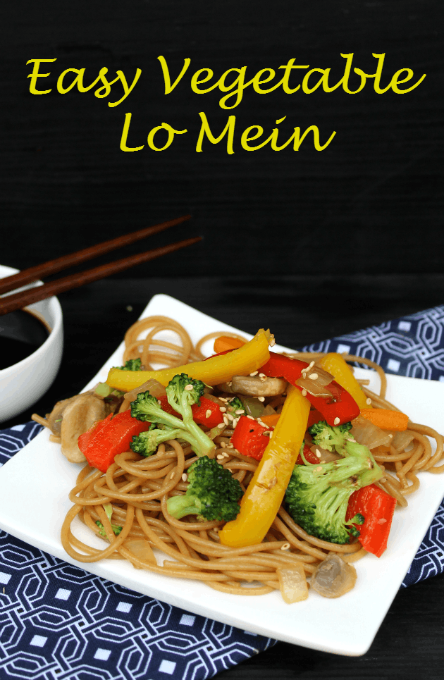 Easy Vegetable Lo Mein pin