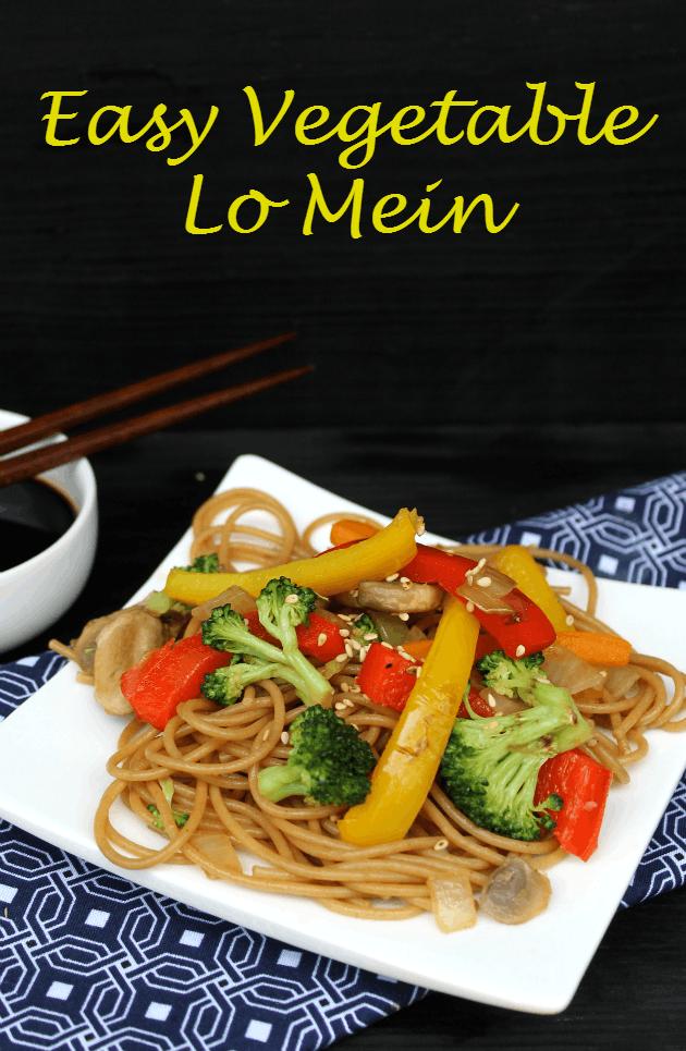 Cheap Dinner Recipes - Easy Vegetable Lo Mein| Homemade Recipes http://homemaderecipes.com/quick-easy-meals/cheap-dinner-recipes