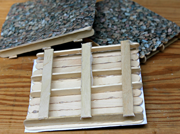DIY Popsicle Stick Coasters step 1