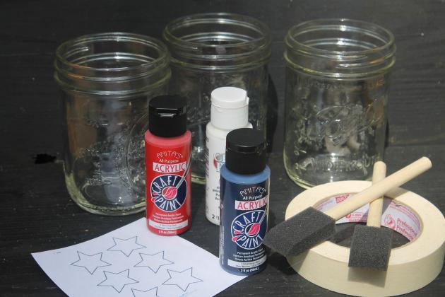 mason jars and supplies