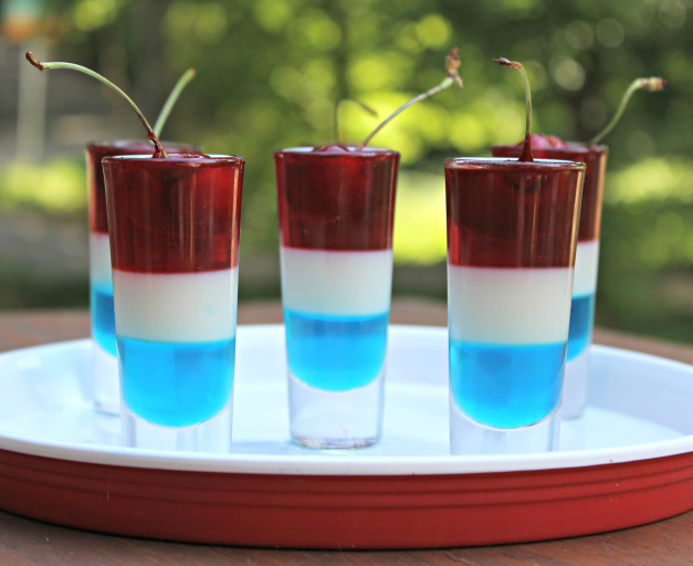 4th of July Jello Cups