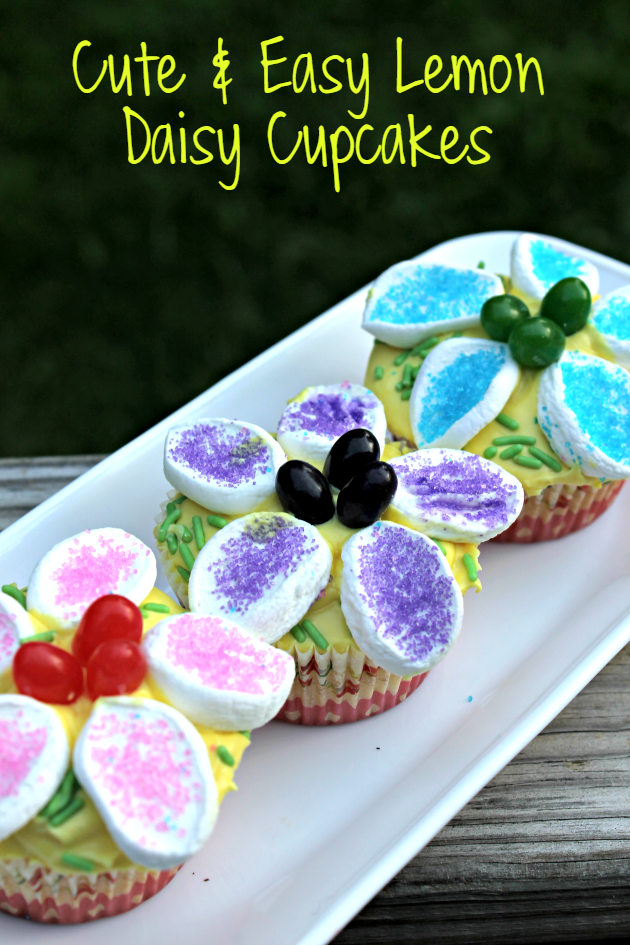 cute and easy lemon daisy cupcakes pin