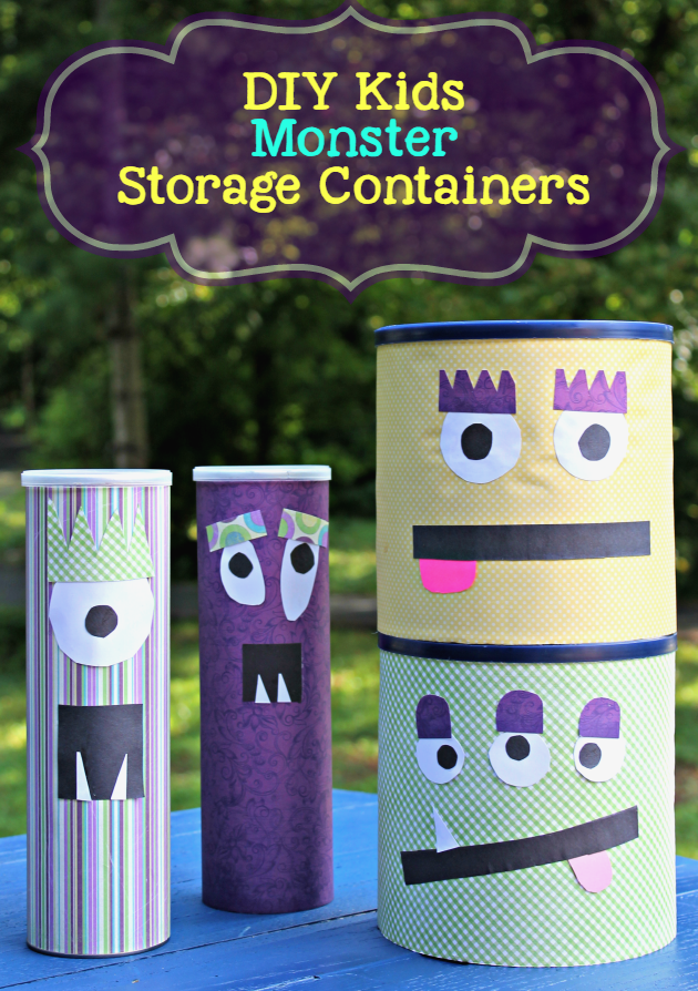 DIY Kids Monster Storage Containers