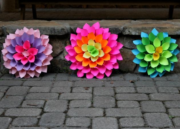 DIY Paper Dahlia Flowers craft
