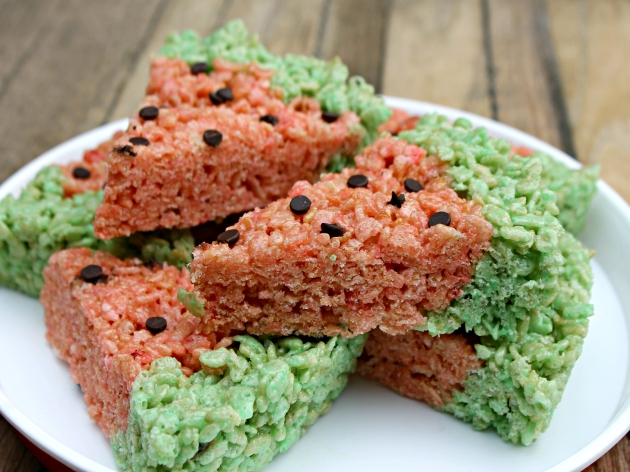 Watermelon Rice Krispies Treats