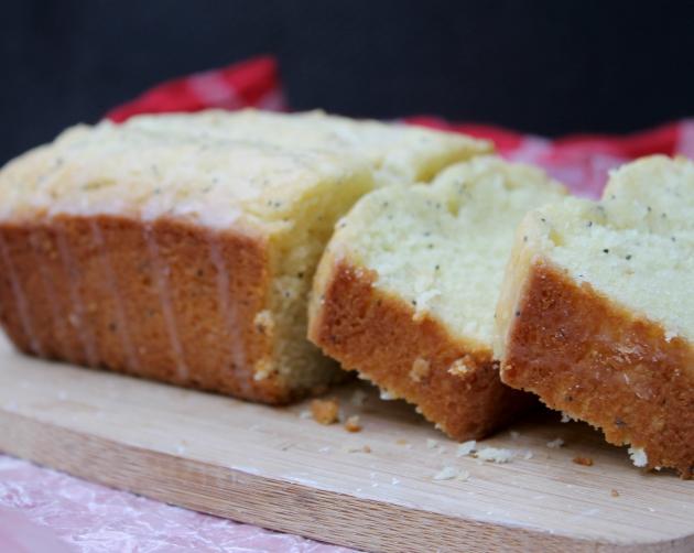 Gluten Free Lemon Poppy Seed Pound Cake