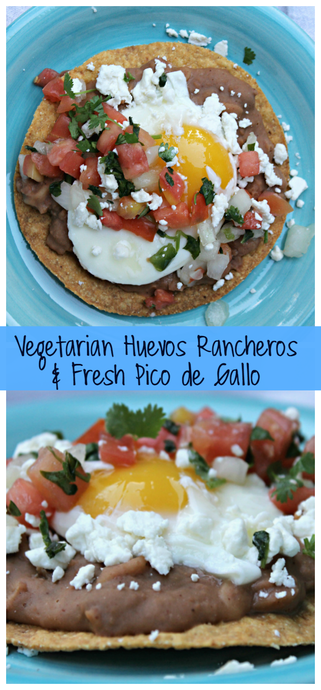Vegetarian Huevos Rancheros with Fresh Pico de Gallo * Kicking It ...