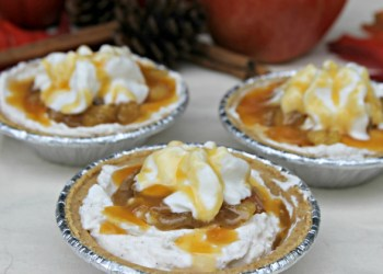 Mini No Bake Caramel Apple Pie Cheesecakes