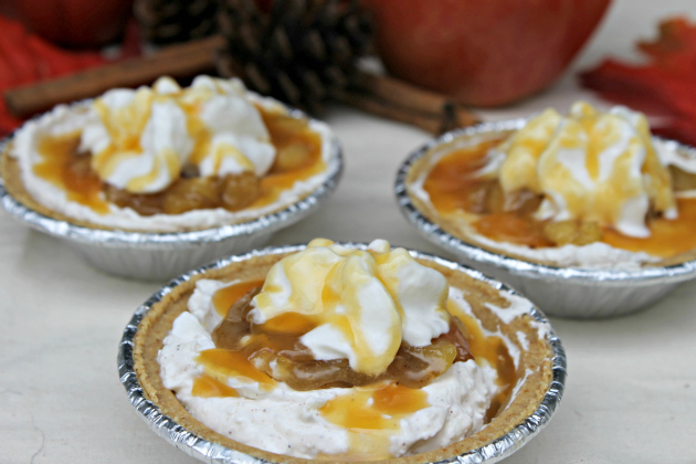 No Bake Caramel Apple Pie Cheesecakes #EffortlessPies 2