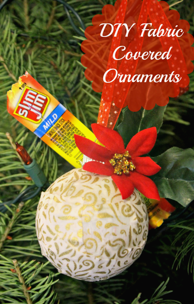 If you are looking for an easy and fun holiday craft, these DIY fabric ornaments are just right!