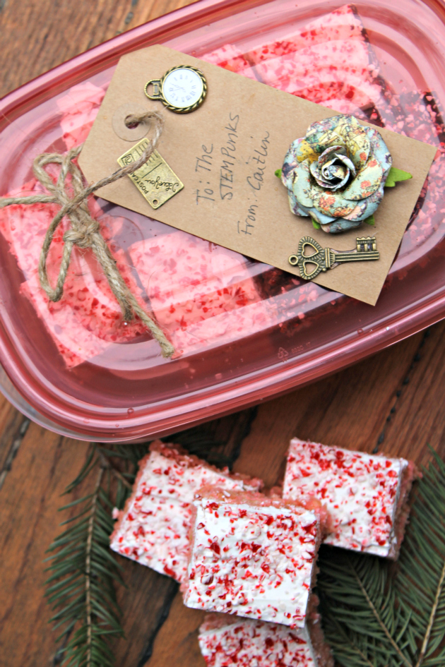 White Chocolate Peppermint Crispy Rice Cereal Treats