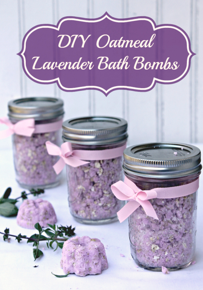 """If you are fighting the dry and damaged skin winter brings, treat it with these DIY Oatmeal Lavender Bath Bombs and Jergens® Wet Skin™ Moisturizer #WetSkinMoisturizer #ad"