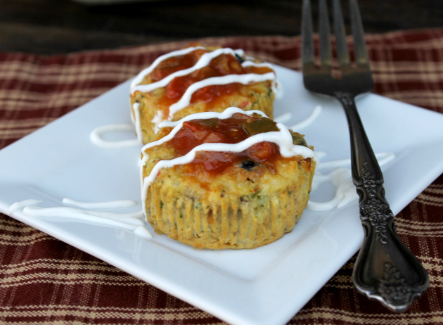 Crustless Mini Southwest Quiches 2