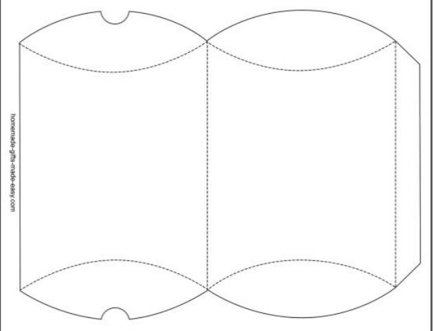 DIY Pillow Box Candy Holder template