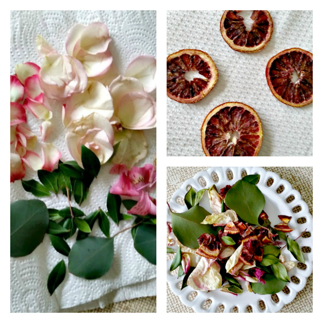 Homemade Potpourri And Sachet Bags collage