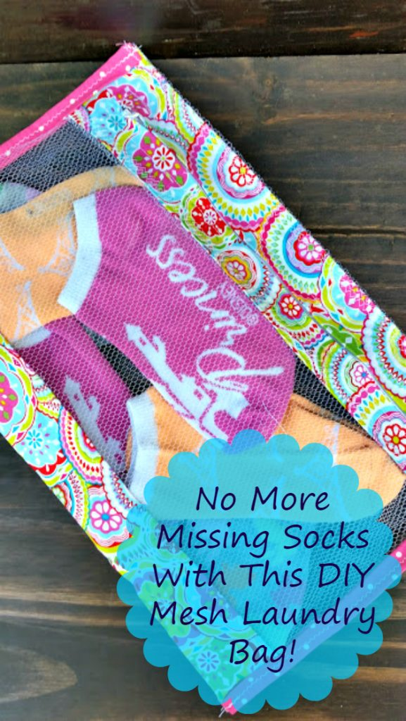 Tired of losing socks in the laundry? Use this cute DIY Mesh Laundry Bag #Wisk60 #ad