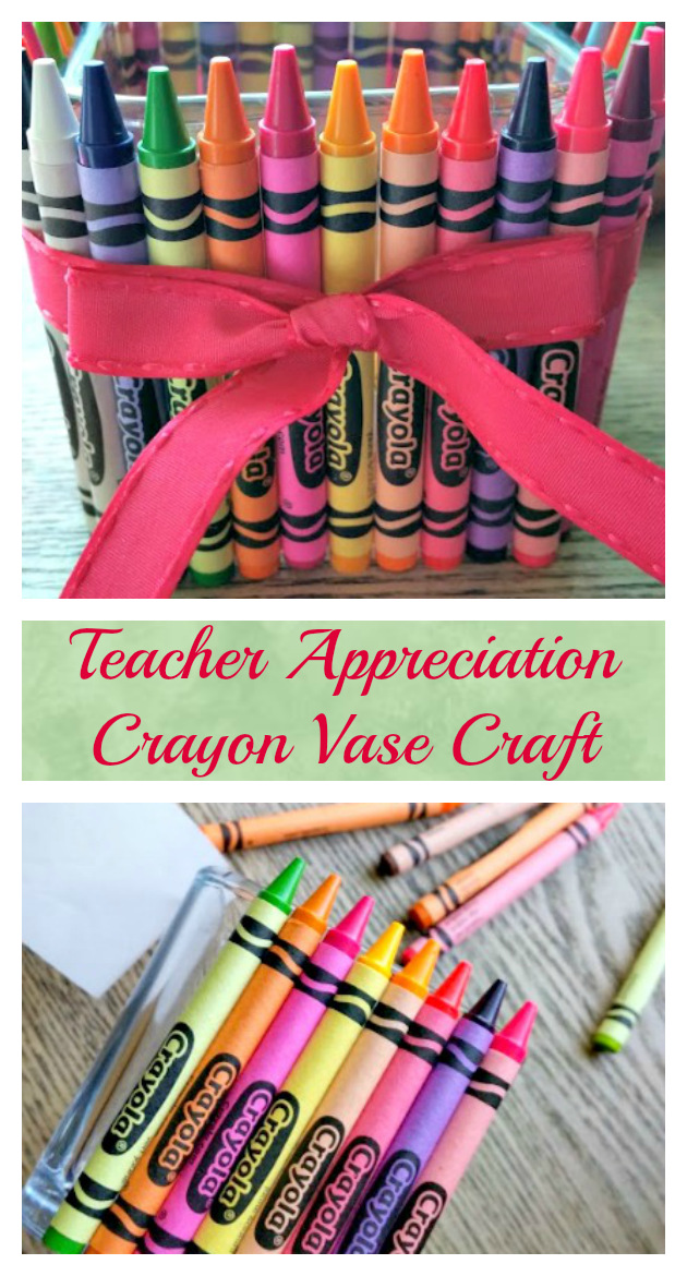 Let your kids show their favorite teacher how much they appreciate them by making this cute and affordable Simple Crayon Vase Craft