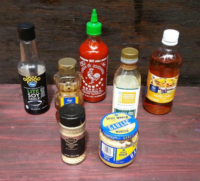 Honey Sriracha Grilled Chicken Drumsticks ingredients