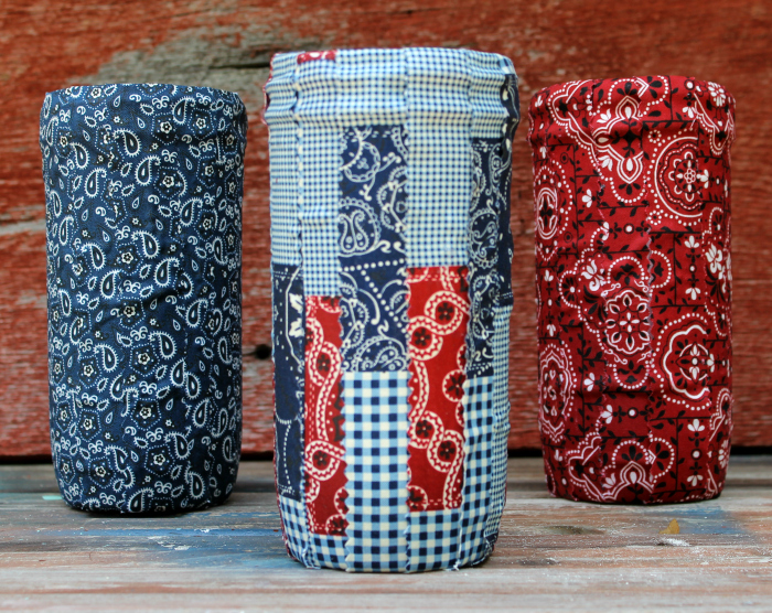 DIY Patriotic Fabric Mason Jars 1
