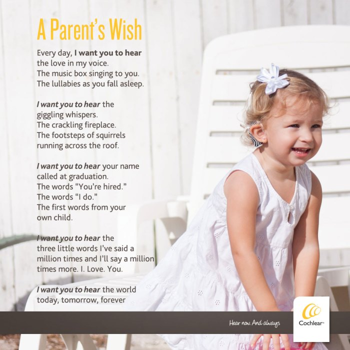 A Parent's Wish For A Child With Hearing Loss? wish