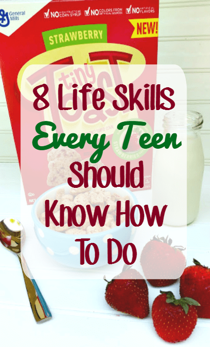 If you habe a kid who is ready to leave the nest, make sure they can master these Life Skills Every Teen Should Know How To Do #ad #TinyToastCereal @genmills