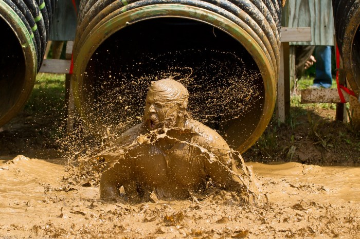 Mudder's Day Madness 5K muddy guy