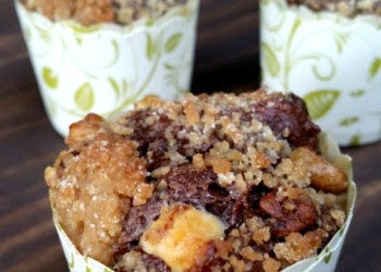 Double Chocolate Chip Zucchini Streusel Muffins