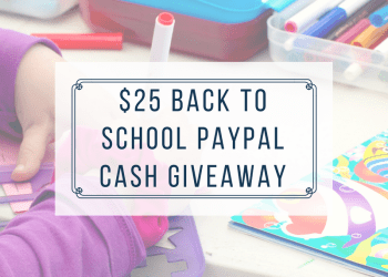 $25 PayPal Cash Back To School Giveaway