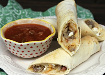 Freezer Friendly Loaded Baked Breakfast Taquitos