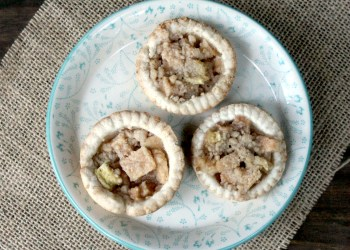 Mini Apple Zucchini Pies With A Crumb Topping