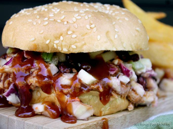 Crockpot Pulled Pork Sandwich With Cranberry Apple Slaw 4