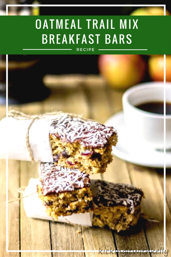 My Oatmeal Trail Mix Breakfast Bars Recipe is a kid friendly meal and a great recipe for picky eaters.