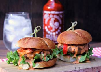 Spicy Game Day Turkey Sliders With Garlic Sriracha Aioli