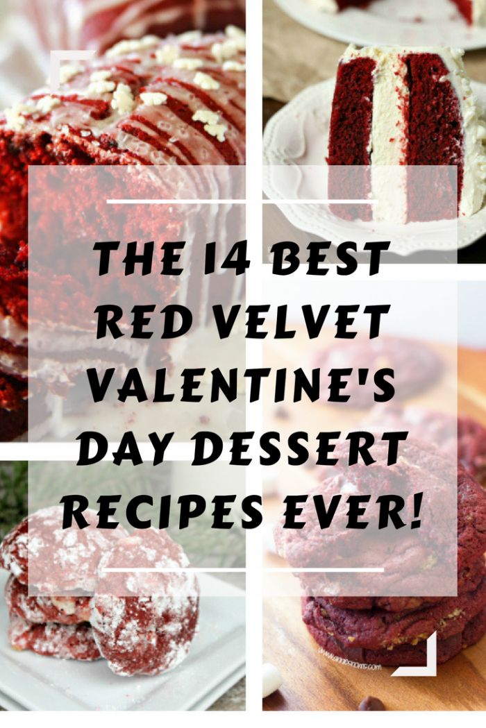 If my husband and I go out to dinner on Valentine's Day, I make sure the restaurant offers a few desserts that are hard to resist. If I am cooking at home, I refer to this list of the 14 Best Red Velvet Valentine's Day Dessert Recipes Ever! I know you are going to find more than a few treats here that you must make for you and your sweetheart!