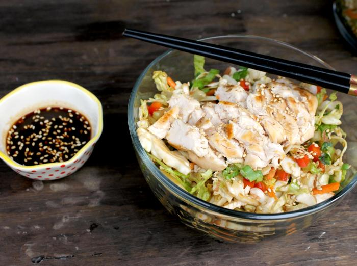 Healthy Meal Idea | Grilled Thai Chicken Chopped Salad 3