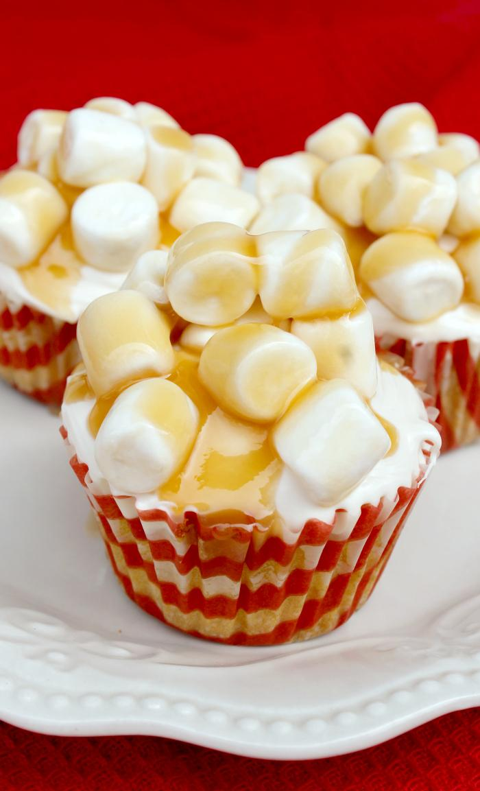 The Academy Awards. #TheOscars. The biggest night in Hollywood. I always make an Oscar Night Snack. This year I made Salted Caramel Corn Popcorn Cupcakes. So good they deserve the red carpet treatment.