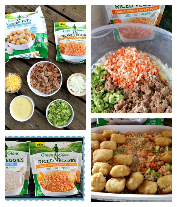 30 Minute Hidden Veggie Tater Tot Casserole ingredients