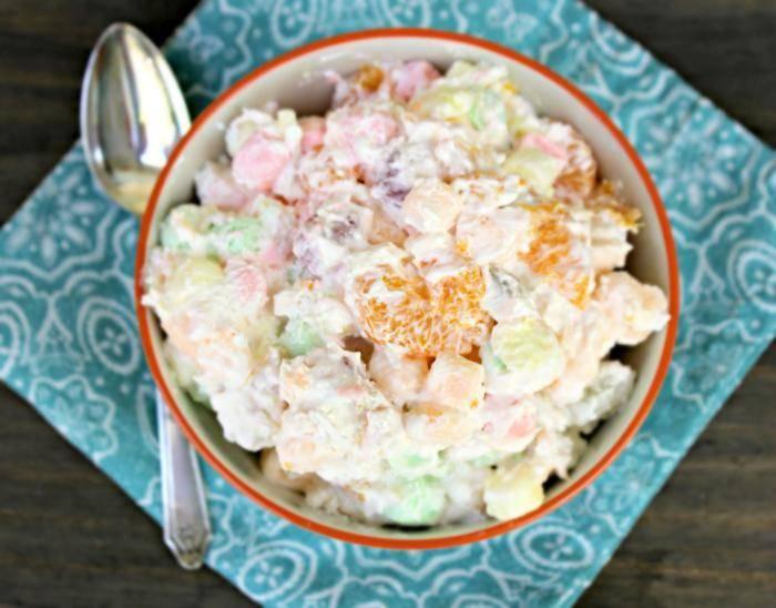 Heavenly Ambrosia Fruit Salad