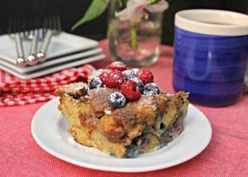 Blueberry Dulce de Leche French Toast Casserole
