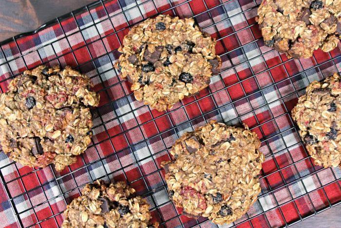 Vegan Chocolate Chunk Mixed Berry Cookies