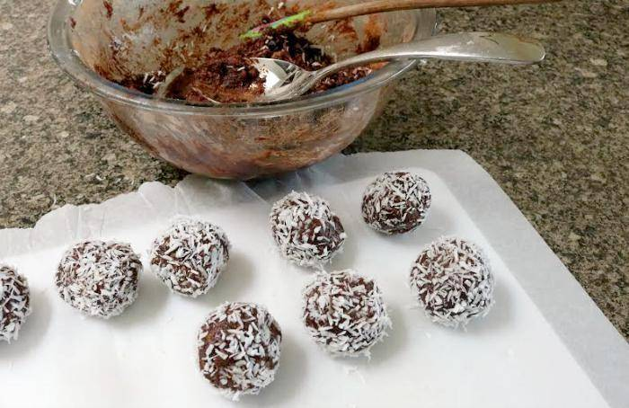 Coconut Covered Chocolate Energy Balls 4