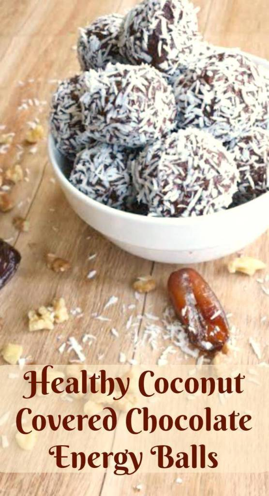 Eating healthy is not always easy. It seems everything tastes like cardboard! Not so with my new favorite recipe! My Coconut Covered Chocolate Energy Balls make a great healthy snack!