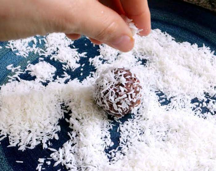 Coconut Covered Chocolate Energy Balls 3