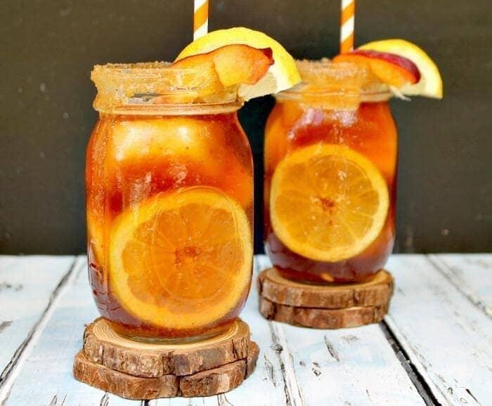 Grilled Peach And Brown Sugar Bourbon Iced Tea 3